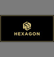 hu hexagon logo design inspiration vector image vector image