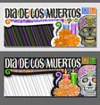 layouts for dia de los muertos vector image