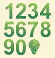 Leaf Number vector image vector image