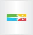lizard logo icon symbol vector image