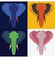 Low poly elephants set vector image vector image
