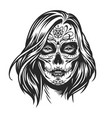 mexican day dead girl vector image vector image