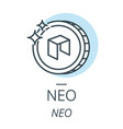 neo cryptocurrency coin line icon of virtual vector image