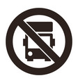no lorry parking sign vector image