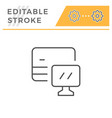 online banking editable stroke line icon vector image