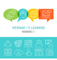 online webinar or seminar with cartoon people vector image
