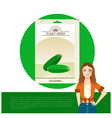 pack of cucumber seeds icon vector image