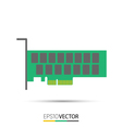 PCIe Solid State Drive SSD vector image vector image