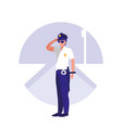 police man avatar character vector image