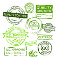 quality control stamps vector image