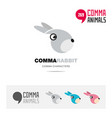 rabbit animal concept icon set and logo brand vector image
