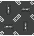 Rubber stamp SECRET pattern vector image