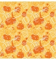 Seamless food pattern with pumpkins vector image vector image
