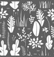 seamless pattern floral doodling design vector image vector image