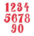 set hand drawn digits design element for vector image