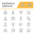 set line icons engineering vector image vector image