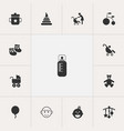 Set of 13 editable baby icons includes symbols