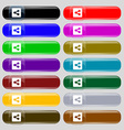 Share icon sign Big set of 16 colorful modern vector image
