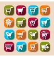 shopping basket long shadows icons vector image vector image