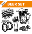 Sketch Oktoberfest set of beer vector image vector image