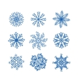 Snow flake set vector image vector image