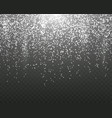 snowfall on a transparent background template vector image