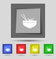 Spaghetti icon sign on original five colored vector image vector image