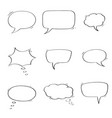 speech bubbles chat symbols outline icons vector image