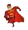super hero fireman cartoon retro vector image vector image