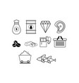 thin line commodity icon set vector image vector image