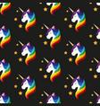 unicorn with closed eyes rainbow mane seamless vector image vector image