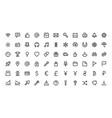 web app line site interface symbol icon set vector image