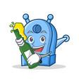 with beer pencil sharpener character cartoon vector image vector image