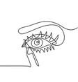 woman eye make up vector image
