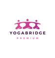 yoga bridge community people logo icon vector image vector image
