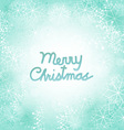 Merry Christmas Snowflakes Background vector image