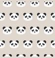 panda faces seamless pattern vector image