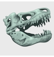 Fossilized head of a giant animal vector image