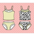 Hand drawn lingerie set vector image