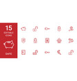 15 safe icons vector image vector image