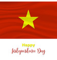 2 september vietnam independence day background vector image vector image