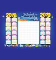 2018-2019 year calendar vector image vector image