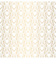 art deco pattern from hearts seamless white and vector image