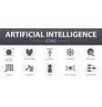 artificial intelligence simple concept icons set vector image