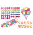 balloons clip art set vector image