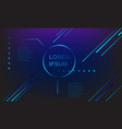banner colorful play button neon vector image vector image
