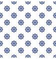 blue boats wheel seamless pattern vector image