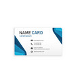 blue business creative name card image vector image vector image