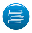 book student icon blue vector image