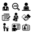 Business Management and Human Job Resources Icons vector image